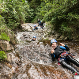 Argensou canyoning with kids - Speleo Canyon Ariege