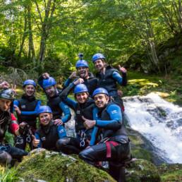 Canyon de l'Escales groupe d'amis - Speleo Canyon Ariege