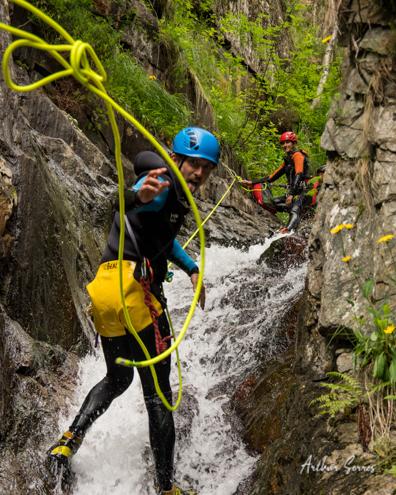 canyon autonome cascade corde
