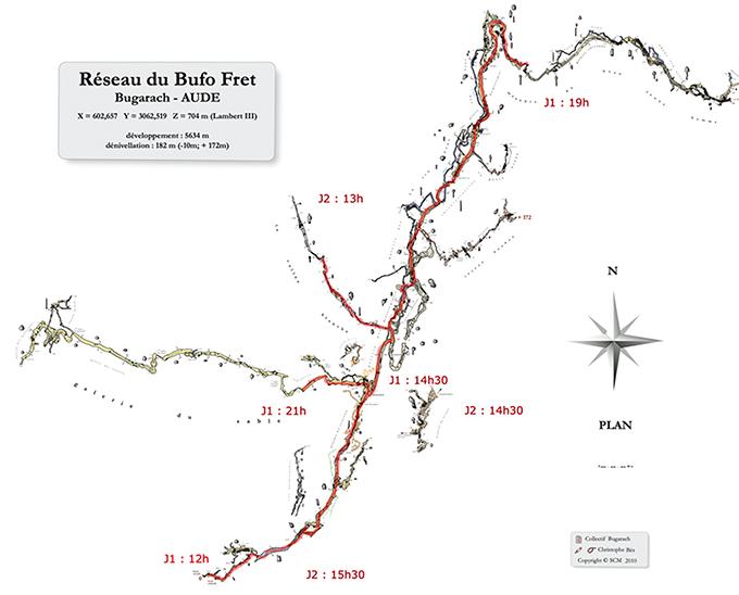 speleo buffo fret topographie