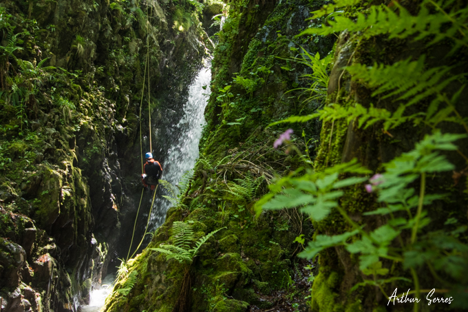canyon subra rappel jungle speleo canyon ariege