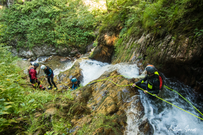canyon subra cascade rappel speleo canyon ariege