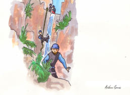dessin canyon subra speleo canyon ariege