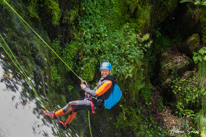 canyon subra sourire rappel speleo canyon ariege
