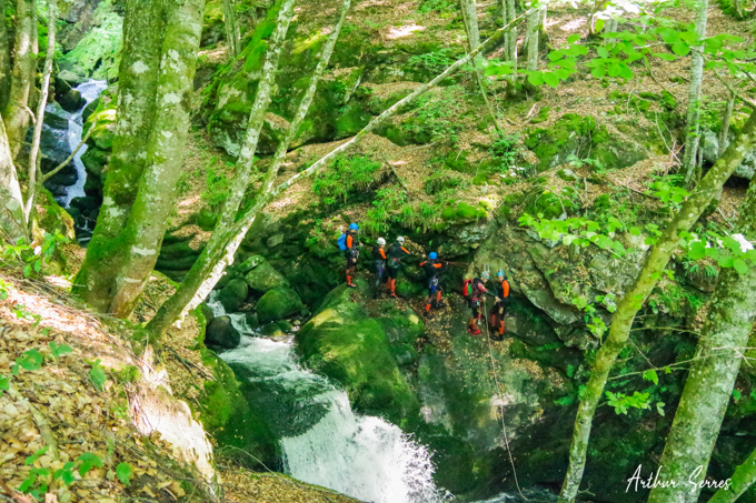 canyon escales foret speleo canyon ariege