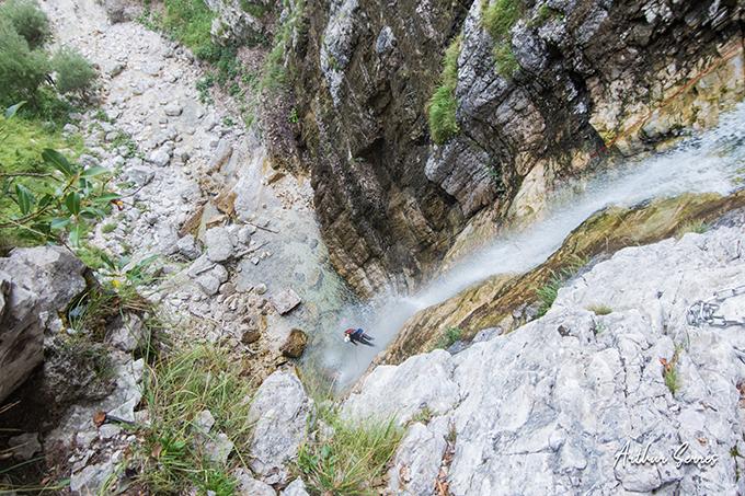 predelica canyon abseil
