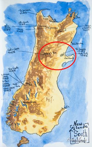 carte nouvelle zelande dessin
