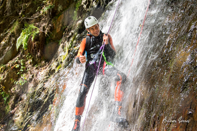 rappel descente canyoning ariege