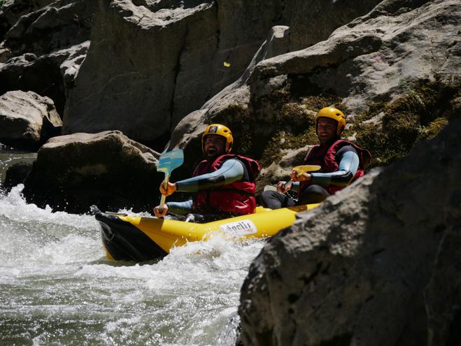 rafting rivière sourire oxygen aventure
