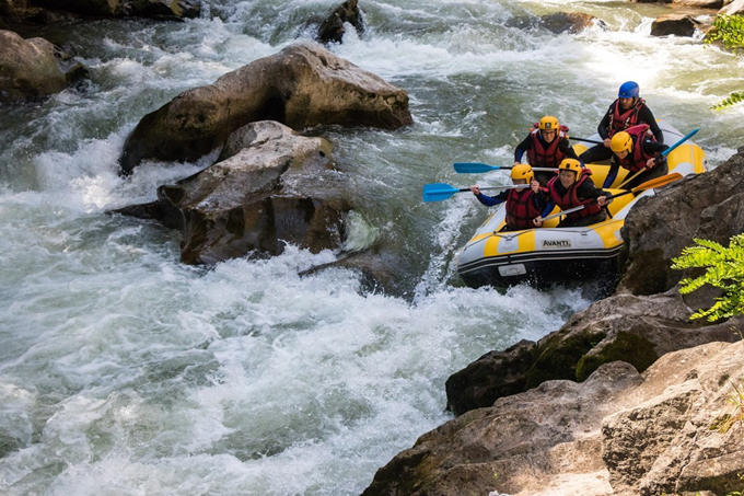oxygen aventure rapides rafting